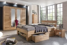 Komplettschlafzimmer No.3 Mia-Marlen Kernbuche massiv