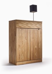 Highboard No.4 Amadeo Wildeiche massiv