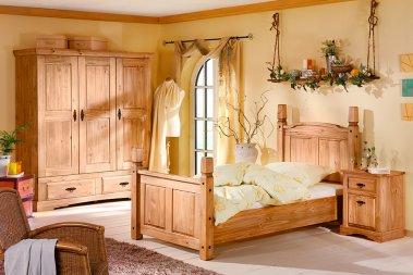 Komplettschlafzimmer No.1 Romantico Kiefer massiv