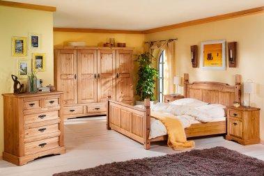 Komplettschlafzimmer No.2 Romantico Kiefer massiv