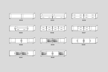 TV-Schrank/Lowboard No.8 Leanndro Wildeiche massiv