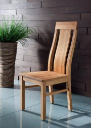 Stuhl No.1 Magnus mit Holzsitz Wildeiche massiv