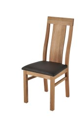 Stuhl No.1 Magnus mit Sitz braun Wildeiche massiv