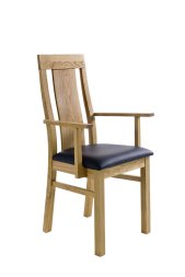 Armlehnstuhl No.1 Magnus mit Holzsitz