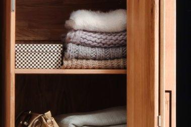 Einlegeboden schmal für Kleiderschrank Aneca Wildeiche massiv