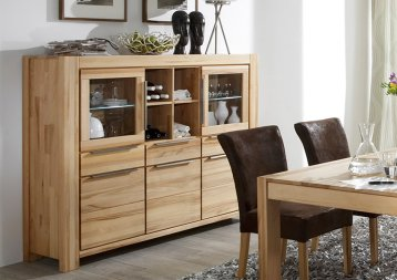 Highboard No.1 Allessandro Kernbuche massiv