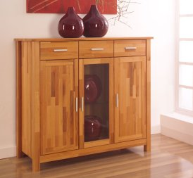 Highboard No.1 LeylaClassic Kernbuche massiv