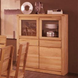 Highboard No.2 Santero Kernbuche massiv