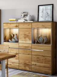 Highboard No.1 Elisee Wildeiche massiv