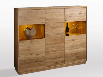 Highboard No.2 Alessia Wildeiche massiv
