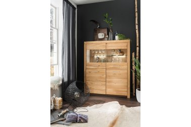 Highboard No.1 Aliante Wildeiche massiv