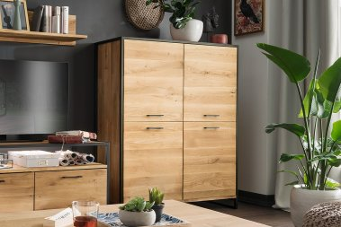 Highboard No.1 Alvaro Wildeiche massiv