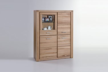 Highboard No.1 Elaine Kernbuche teilmassiv