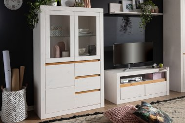 Highboard No.1 Lagertha Kiefer massiv