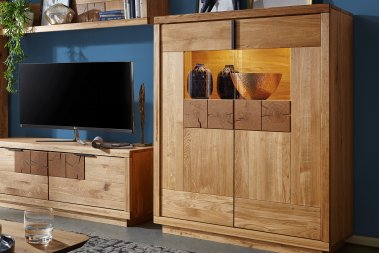 Highboard No.1 Lysann Wildeiche massiv