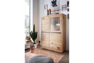 Highboard No.1 Malcom Wildeiche massiv