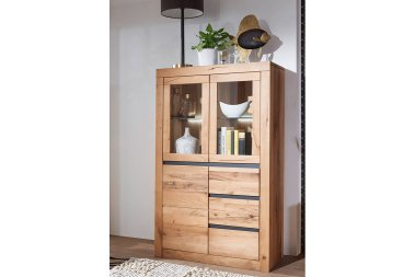 Highboard No.1 Thoran Wildeiche massiv
