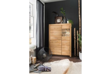 Highboard No.2 Aliante Wildeiche massiv