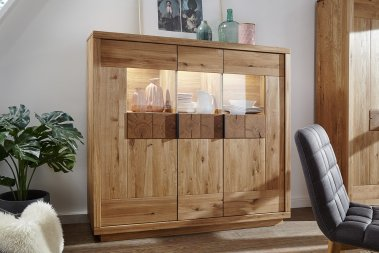 Highboard No.2 Lysann Wildeiche massiv