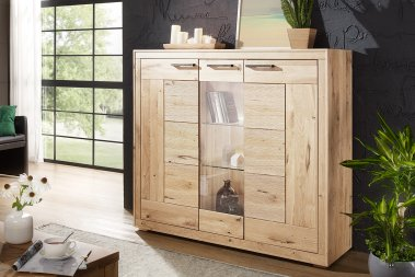 Highboard No.2 Sandora Wildeiche massiv