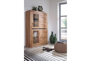 Highboard No.4 Thoran Wildeiche massiv