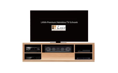 LANA-Premium Heimkino TV-Schrank, konfigurierbar Kernbuche massiv