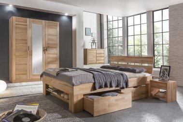 Komplettschlafzimmer No.2 Mia-Marlen Kernbuche massiv
