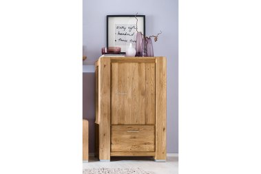 Highboard No.1 Sansa Wildeiche massiv