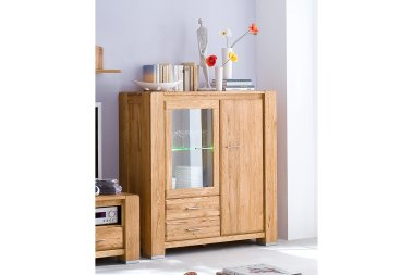 Highboard No.2 Sansa Wildeiche massiv
