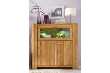 Highboard No.3 Sansa Wildeiche massiv