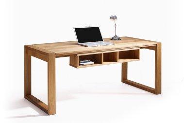 Schreibtisch konfigurierbar Amadeo Wildeiche massiv