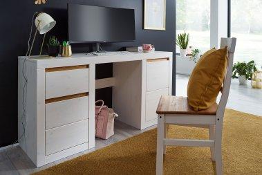 Schreibtisch Lagertha Kiefer massiv