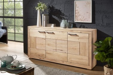 Sideboard No.1 Sandora Wildeiche massiv