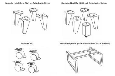 Füße / Beine für Leanndro Möbel