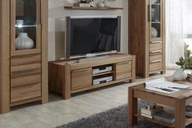TV-Schrank No.1 Milo Wildeiche massiv