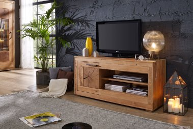 TV-Schrank No.1 Mysteron Wildeiche massiv
