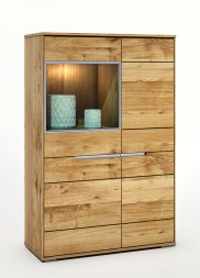 Highboard No.2 Elisee Wildeiche massiv