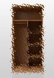Einlegeboden breit (3er-Set) für Kleiderschrank Prix Wildeiche massiv