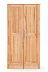 Kleiderschrank No.2 HomeStyle mit Schubkastenunterbau Kernbuche massiv