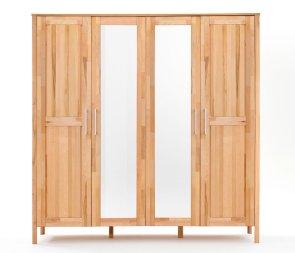 Kleiderschrank No.4 HomeStyle mit Spiegeltüren Kernbuche massiv