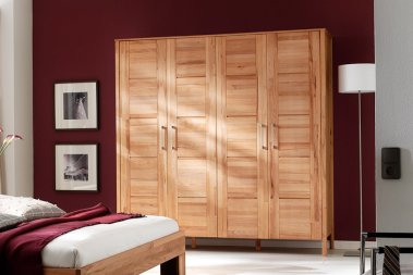 Kleiderschrank No.4 YoungStyle Kernbuche massiv