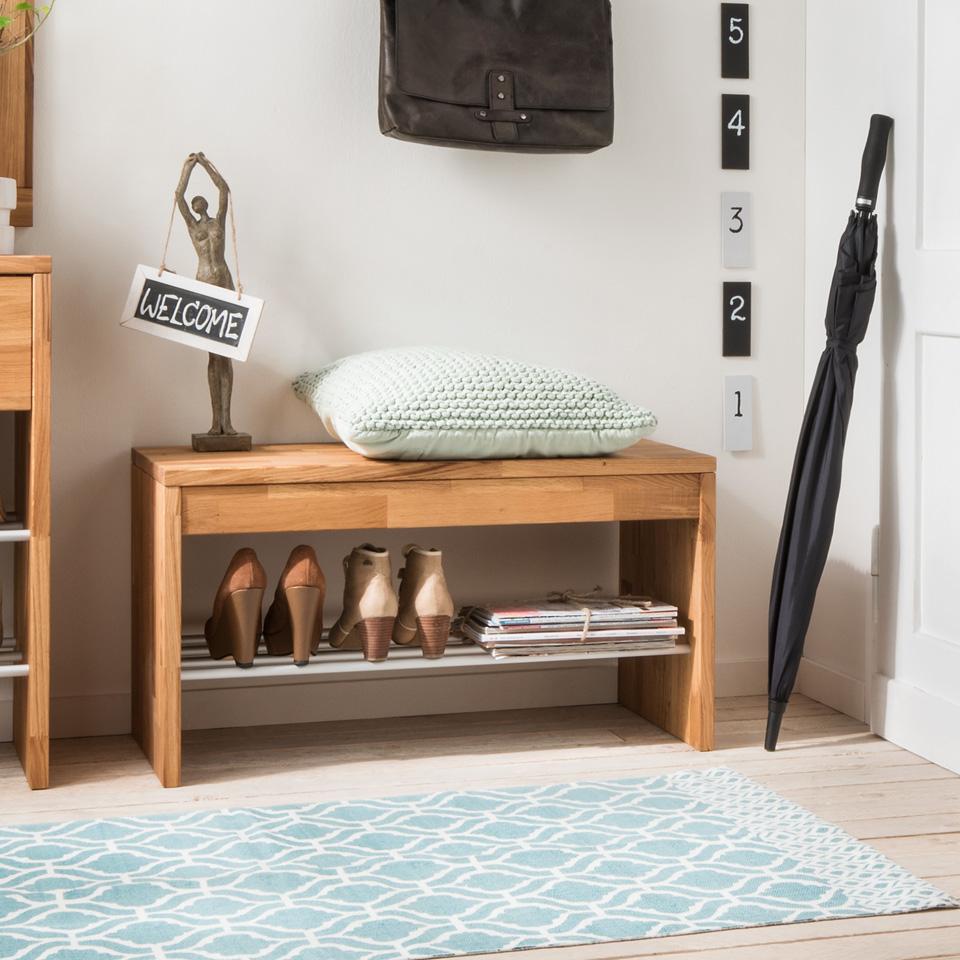 massivholz schuhbank louke hochwertige massivholzm bel von der esstischgruppe. Black Bedroom Furniture Sets. Home Design Ideas