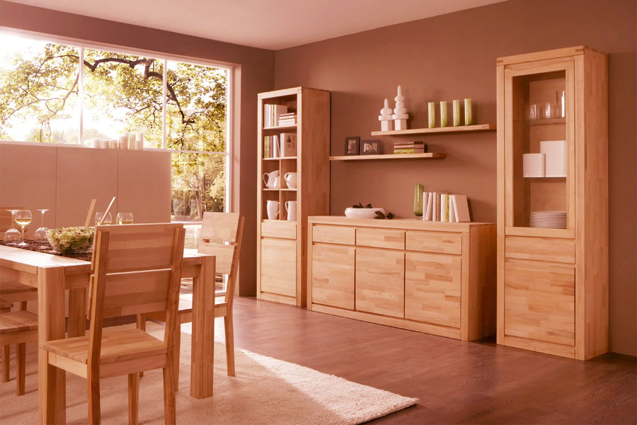massivholz vitrine no 2 santero hochwertige massivholzm bel von der. Black Bedroom Furniture Sets. Home Design Ideas